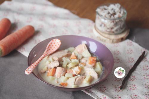 Blanquette de saumon au panais et à la vanille