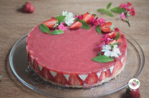 Entremet fraise et verveine
