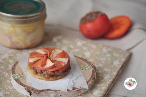 Tartelettes fines foie gras, kaki & pomme