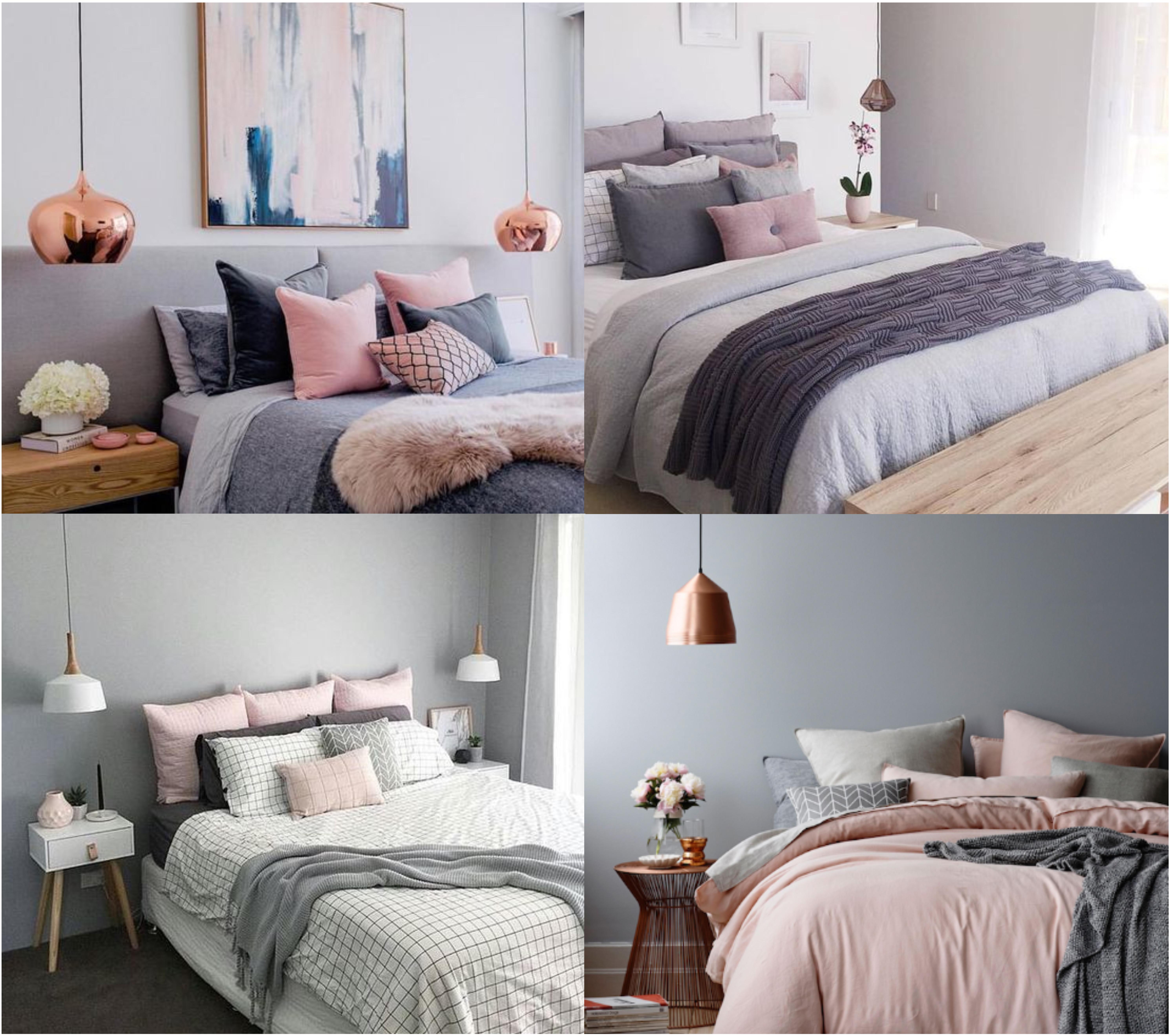 Une chambre dans les tons gris/rose – Mint et menthe