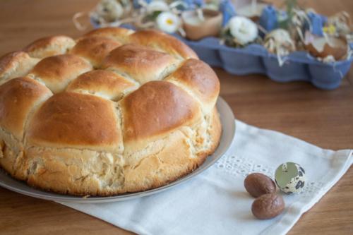 Brioche aux œufs de Pâques