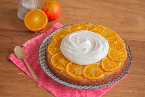 Gâteau renversé à l'orange et au mascarpone