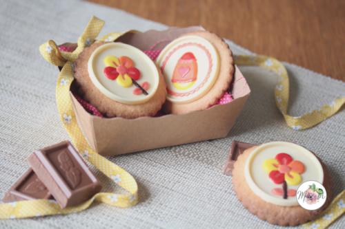 Biscuits de Pâques au chocolat blanc