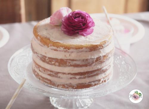 Naked cake fleur d'oranger & bigarreaux confits