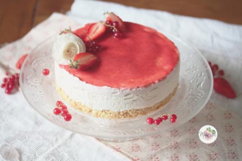 Cheesecake fraise & fleur d'oranger