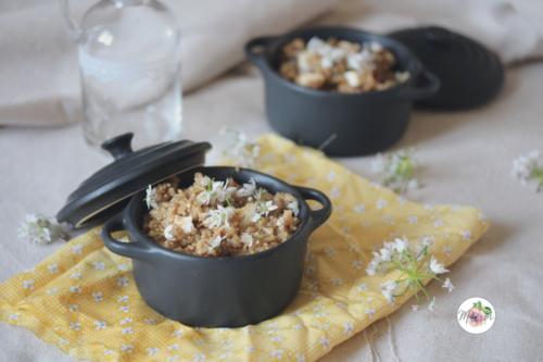 Quinoasotto au gorgonzola et à l'ail des ours